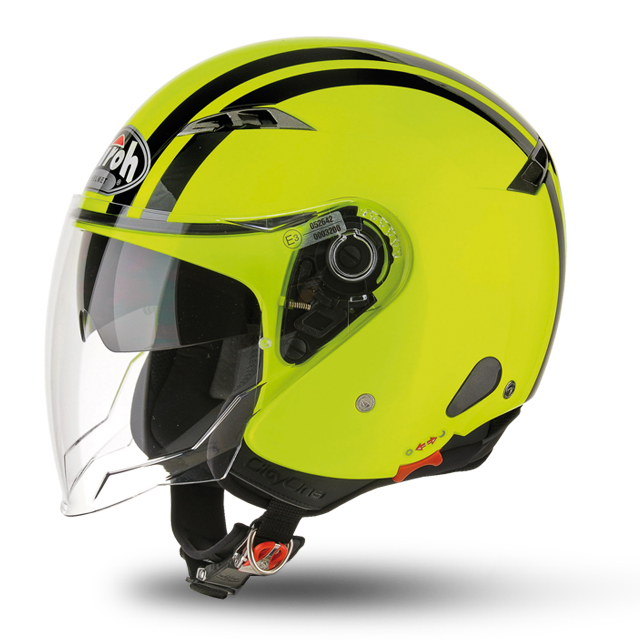 CITY ONE FLASH YELLOW GLOSS HELMET