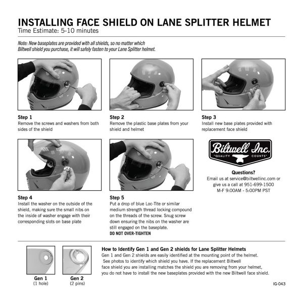 Installing Face Shield
