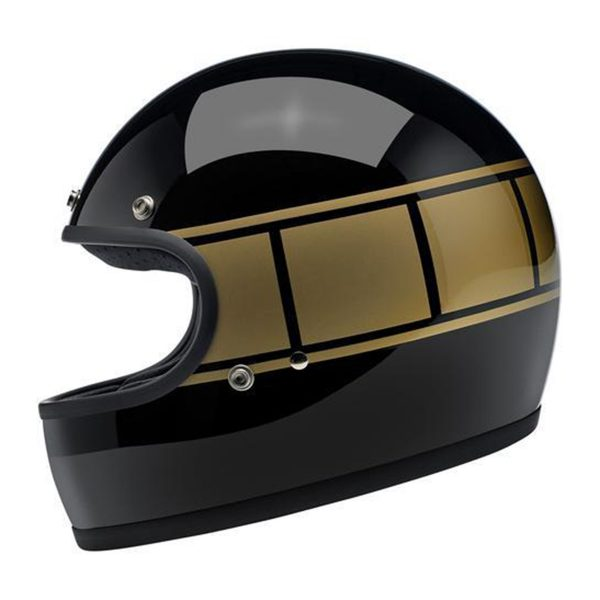 Gringo ECE Helmet - Gloss Black Holeshot Part # ETBM385
